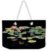 Waterlily Panorama Weekender Tote Bag