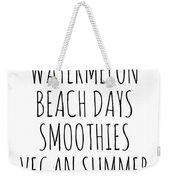 Watermelon, Beach Days Smoothies Weekender Tote Bag