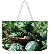 Watermelon In A Vegetable Garden Weekender Tote Bag