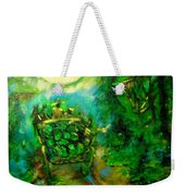 Watermelon Wagon Moon Weekender Tote Bag