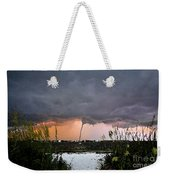 Waterspout Over Pass A Grill Weekender Tote Bag