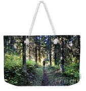 Waterton Valley Trail Detail - Glacier National Park Weekender Tote Bag