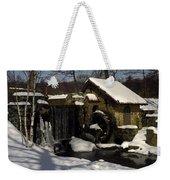 Waterwheel With Snow Weekender Tote Bag