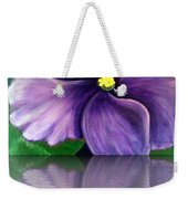 Watery African Violet Reflection Weekender Tote Bag