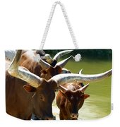 Watusi Cattle Weekender Tote Bag