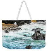 Wave Action Weekender Tote Bag