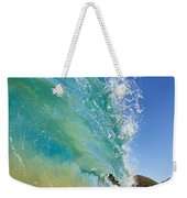 Wave Breaking At Makena Weekender Tote Bag