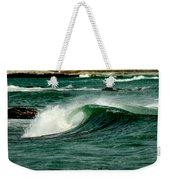Wave Curl Weekender Tote Bag