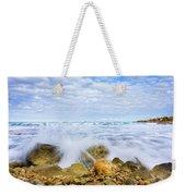 Wave Splash Weekender Tote Bag by Gary Gillette