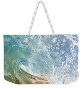 Wave Tube Along Shore Weekender Tote Bag