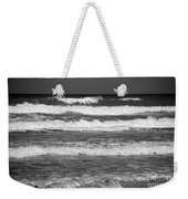 Waves 3 In Bw Weekender Tote Bag