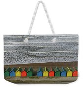 Waves And Beach Huts - Whitby Weekender Tote Bag