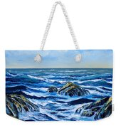 Waves And Foam Weekender Tote Bag