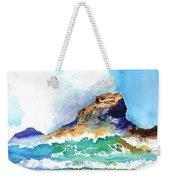 Waves Bursting On Rocks Weekender Tote Bag