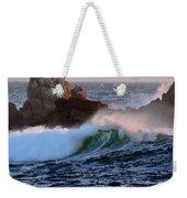 Waves Crash Against The Rocks Weekender Tote Bag