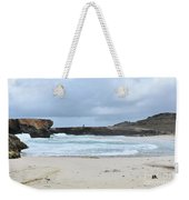 Waves Crashing Ashore With Large Rock Formations Weekender Tote Bag