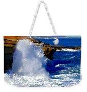 Waves Crashing On The Rocks Weekender Tote Bag