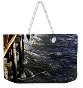 Waves Hitting Santa Monica Pier Weekender Tote Bag