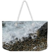 Waves Meet Pebbles Weekender Tote Bag