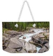 Waves Of ... Granite At Mistaya Canyon, Canada Weekender Tote Bag