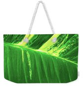 Waves Of Green Weekender Tote Bag
