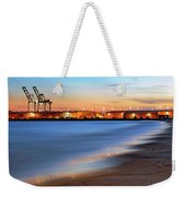 Waves Of Industry - Gulfport Mississippi - Sunset Weekender Tote Bag