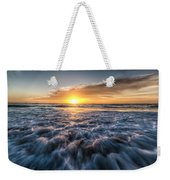 Waves Of The Sunset Weekender Tote Bag