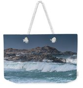 Waves On A Cloudy Day Weekender Tote Bag