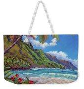 Waves On Na Pali Shore Weekender Tote Bag