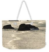 Waves Roll Ashore On The Oregon Coast Weekender Tote Bag