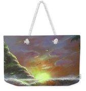 Waves Through The Sunset Weekender Tote Bag