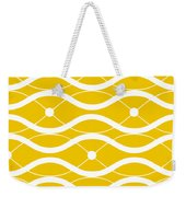 Waves With Border In Mustard Weekender Tote Bag