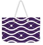 Waves With Border In Purple Weekender Tote Bag