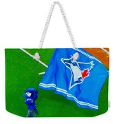 Waving The Flag For The Home Team      The Toronto Blue Jays Weekender Tote Bag