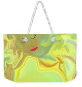 Wavy Hair And Red Lips Weekender Tote Bag