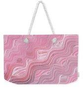 Wavy Pink Brush Strokes Abstract Art For Interior Decor Viii Weekender Tote Bag