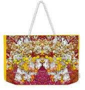 Waxleaf Privet Blooms In Autumn Tones Abstract Weekender Tote Bag