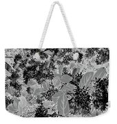 Waxleaf Privet Blooms On A Sunny Day In Black And White - Color Invert Weekender Tote Bag