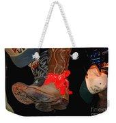 Waylon Jennings Boots Weekender Tote Bag
