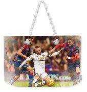 Wayne Rooney Shoots At Goal Weekender Tote Bag