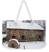 Wayside Inn Grist Mill Covered In Snow Millstone Weekender Tote Bag