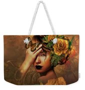 Blooms A Fragile Yellow Rose Weekender Tote Bag