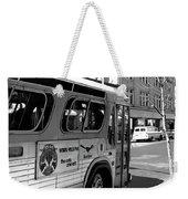 Wbru-fm Bus Sign, 1975 Weekender Tote Bag