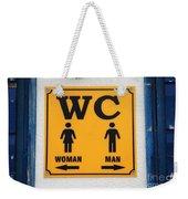 Wc Sign, Croatia Weekender Tote Bag