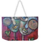 We Live With Love In Our Hearts Weekender Tote Bag