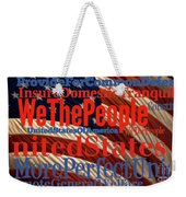 We The People Of The United States Of America Weekender Tote Bag