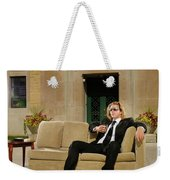 Wealthy Young Man In Suit Sitting On A Couch With A Drink On A T Weekender Tote Bag