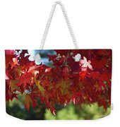 Wearing Red For Fall Weekender Tote Bag