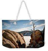 Weathered - Pathfinder Reservoir - Wyoming Weekender Tote Bag
