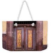Weathered Door Weekender Tote Bag